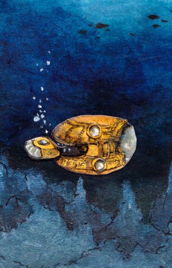 Bis in die tiefsten Ozeane - U-Boot Mara mit dem MARM (Miniaturzeichnung)