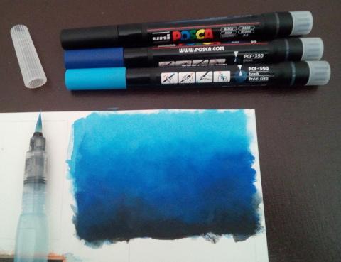 uni brush marker hintergrund farbverlauf meer wal - sockenzombie