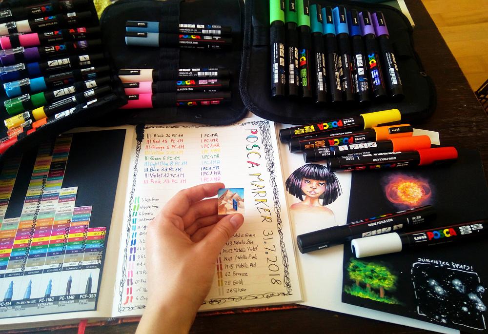 sockenzombie - posca marker test - deckende farben auf wasserbasis