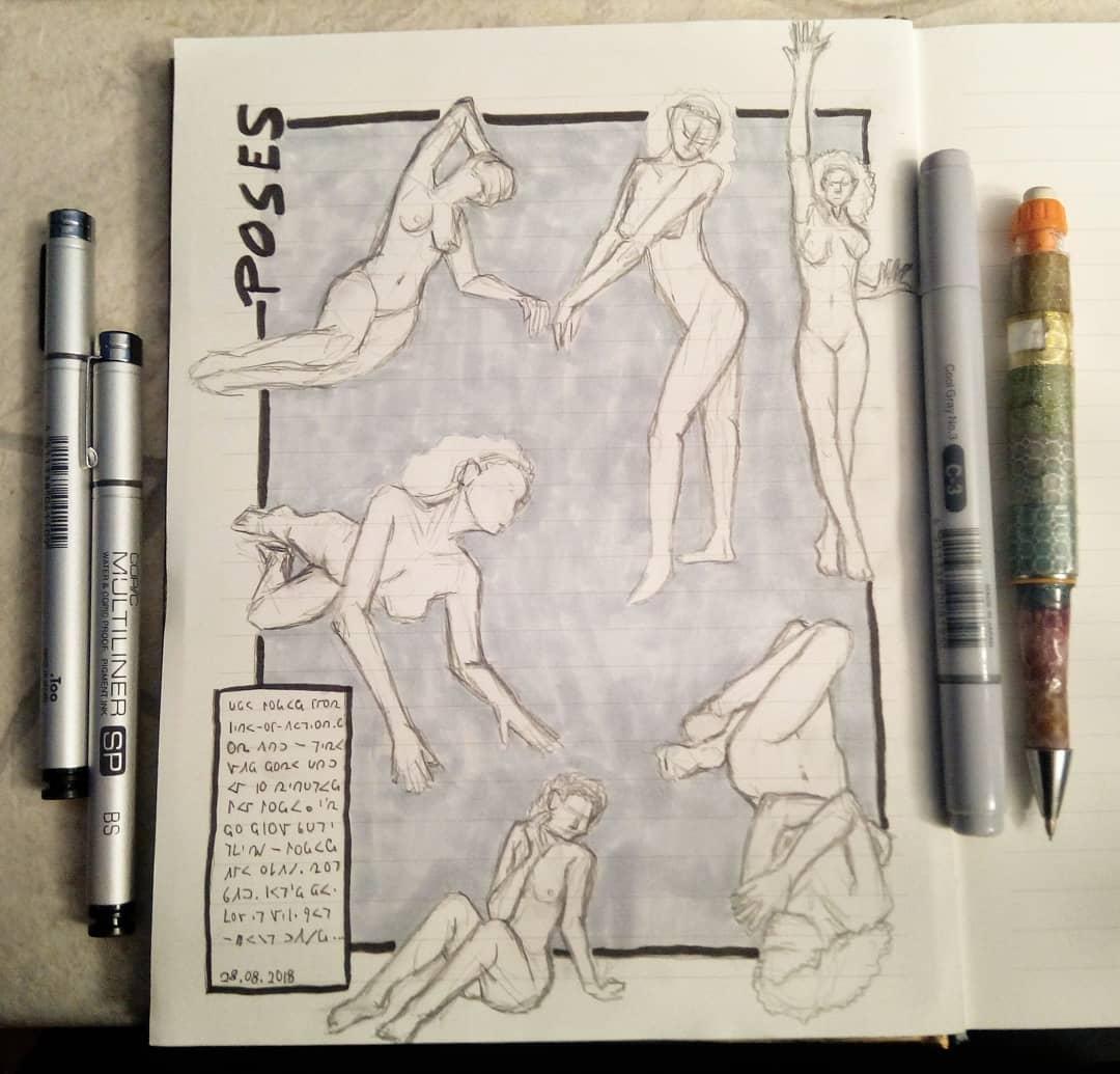 sockenzombie instagram skizzen gesture drawing figure painting