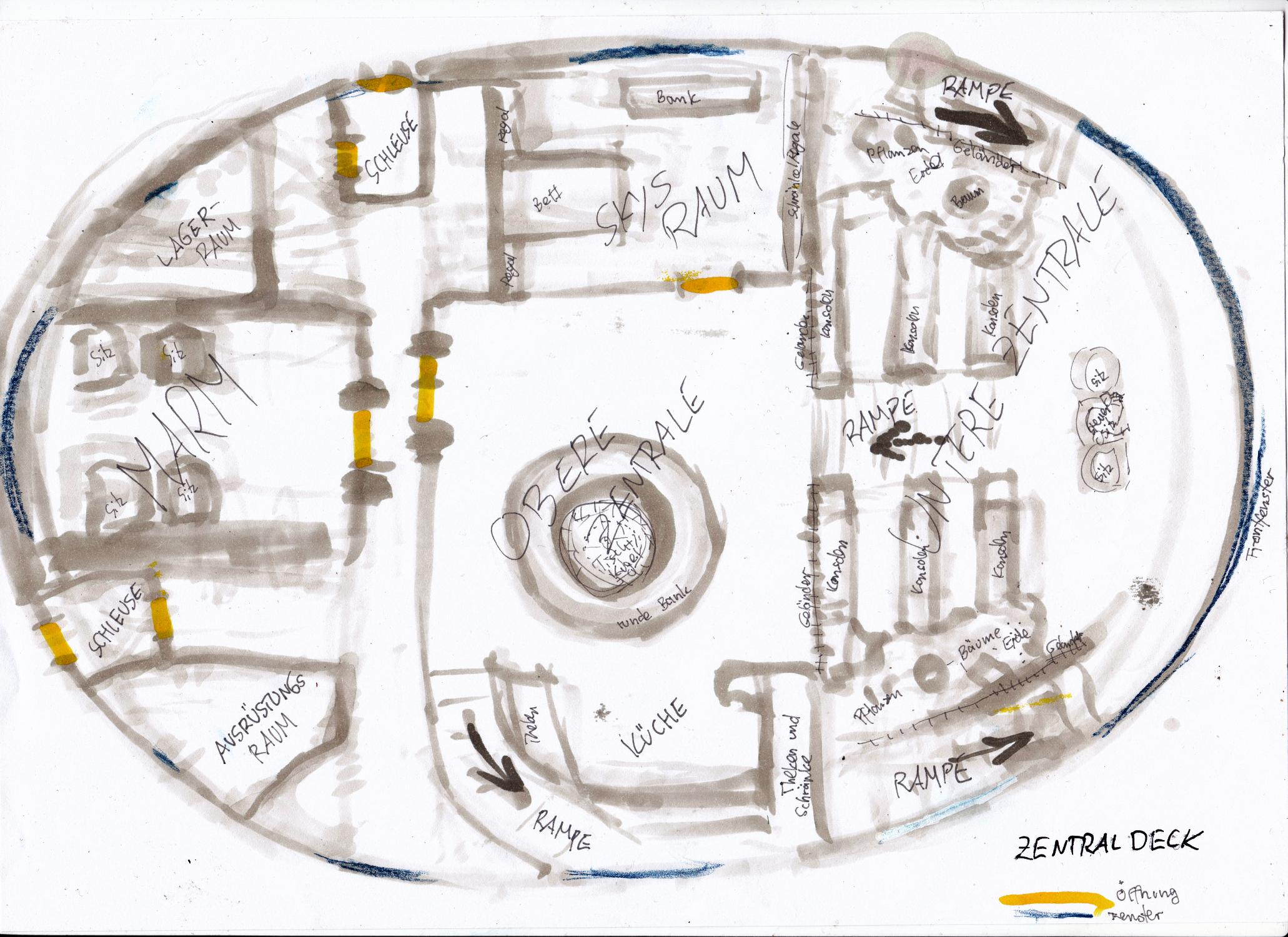 skizze plan der mara u-boot mittleres deck sockenzombie bis in die tiefsten ozeane do deepest oceans