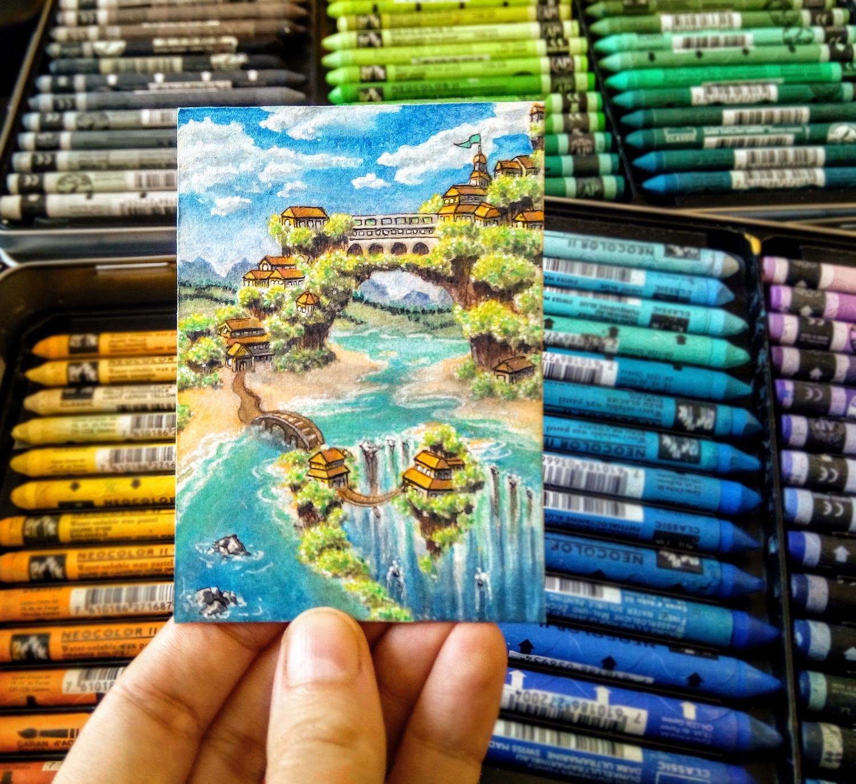 sockenzombie kakaokarte landschaft zeichnen tutorial (redraw 2019)