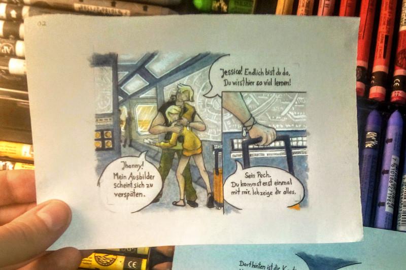 miniaturcomic auf kakaokarten von sockenzombie - seite 2 (antares)