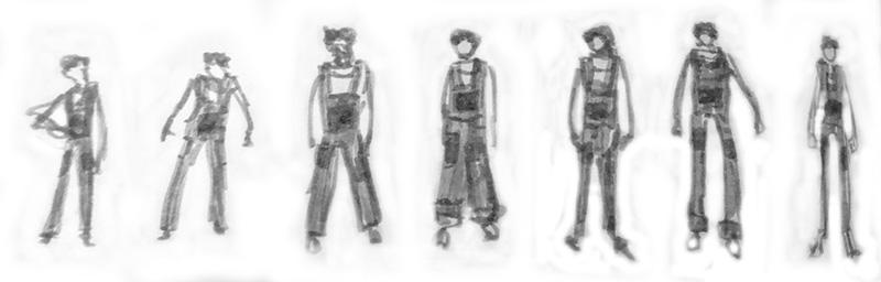 Skizzen aus Sockenzombies Skizzenbuch - graue Menschen - Asha