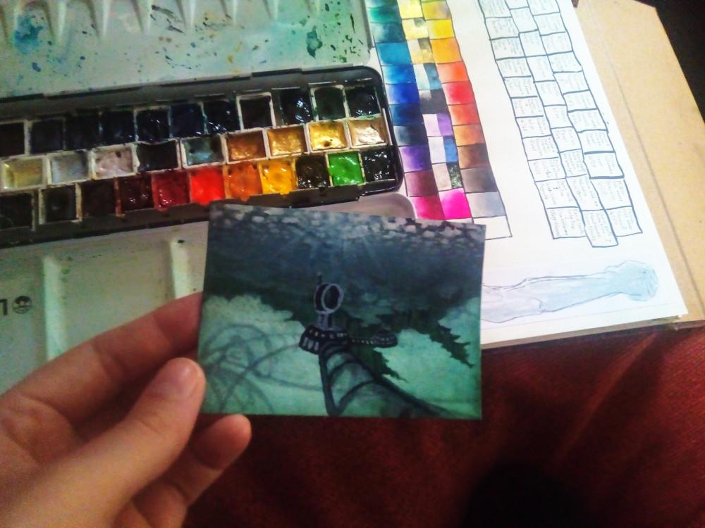 wip: kakaokarte von sockenzombie unterwasser - miniaturbild zeichnen