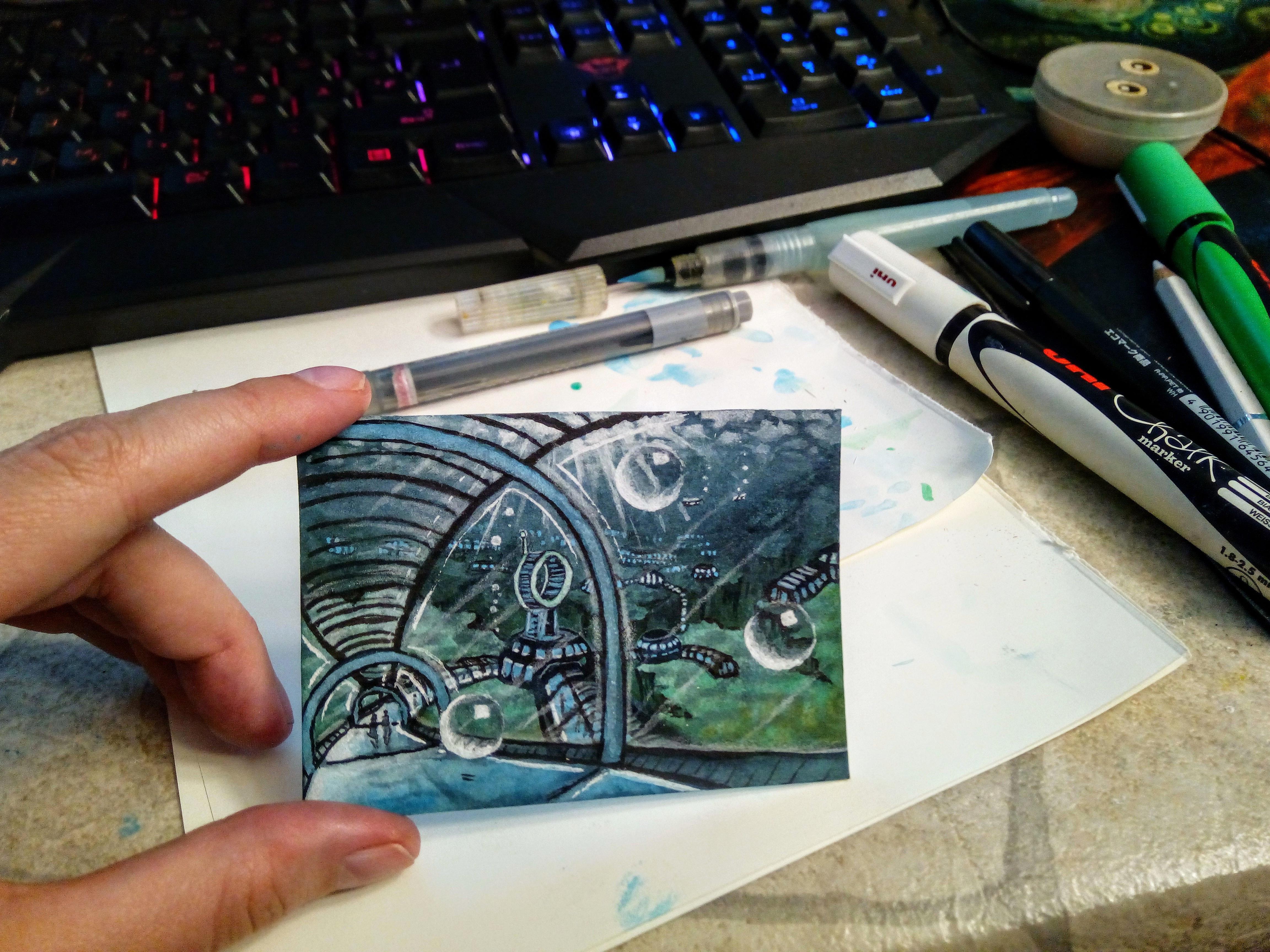 kakaokarte von sockenzombie unterwasser - miniaturbild zeichnen