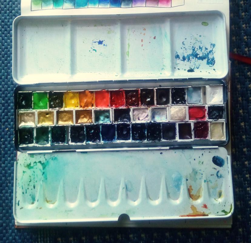 sockenzombies farben - aquarell poster color finetec im farbkasten