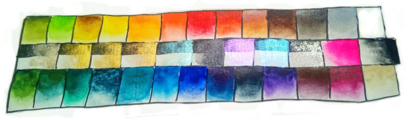 sockenzombie farben aquarell farbkarte farbtabelle