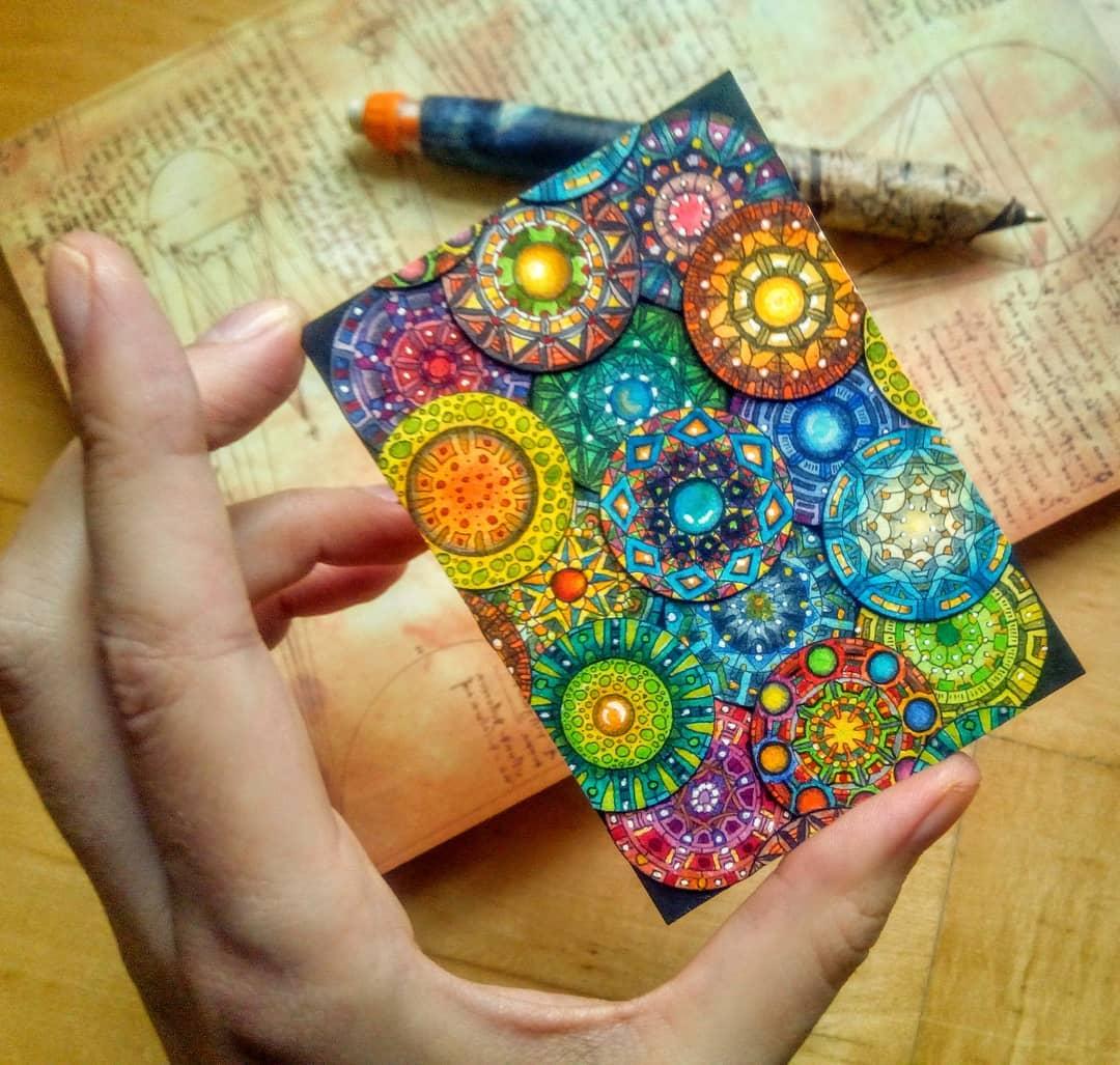 gezeichnetes mini mandala von sockenzombie