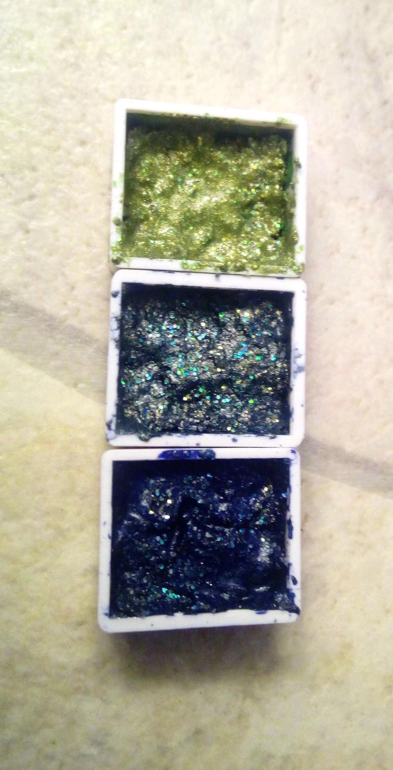 sockes farbenbrauerei - glitzernde Schimmer Farben - Aquarellfarben herstellen